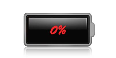 rozladowana bateria