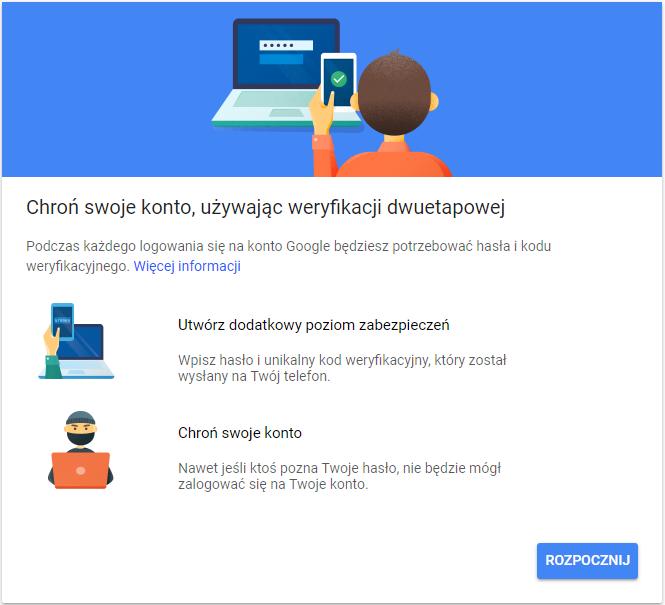 weryfikacja dwuetapowa google