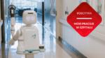 robot na korytarzu szpitalnym