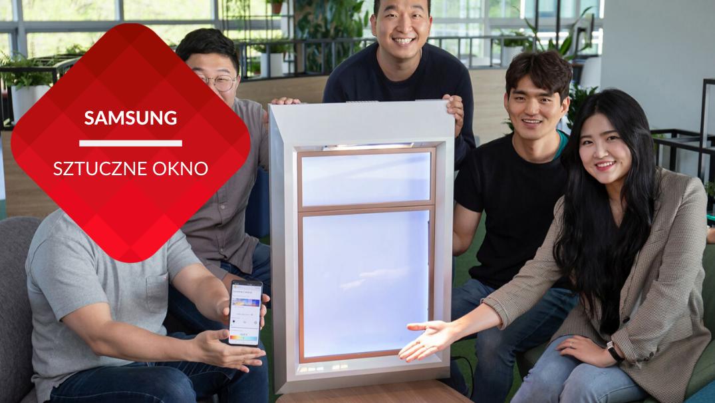 przenosnepl_samsung pięć osób z sunny five prezentuje sztuczne okno