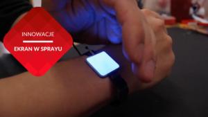 przenosnepl_zegarek z podświetlanym ekranem dotykowym zrobionym sprayem
