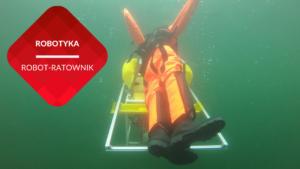 przenosnepl_podwodny robot ratownik transportuje manekina