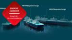 przenosnepl_wizualizacja trzy barki z reaktorami jadrowymi na ciekla sol unoszace sie na wodzie