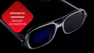 przenosnepl_inteligentne okulary xiaomi smart glasses z mikroskopijnym wyswietlaczem na czarnym tle
